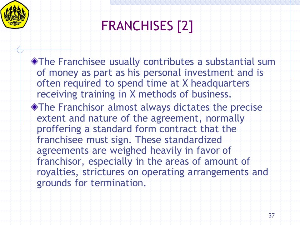 FRANCHISES [2]